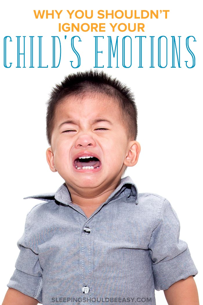A little boy crying: don't ignore children's emotions