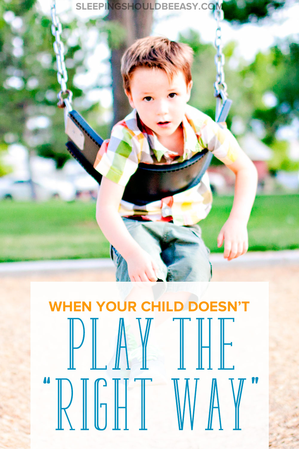 You see other kids playing with toys and at the park the way they're supposed to. Here's why it's not so bad when your child doesn't play the right way.