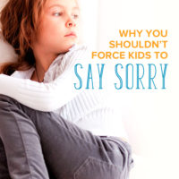 Why You Shouldn't Force Kids to Say Sorry
