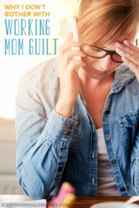 Many mothers feel burdened with working mom guilt. Whether you feel guilty for not being home with the kids or because you enjoy your work, here is why you shouldn't feel guilty for being a working mom. Plus, learn how to balance raising children and work.