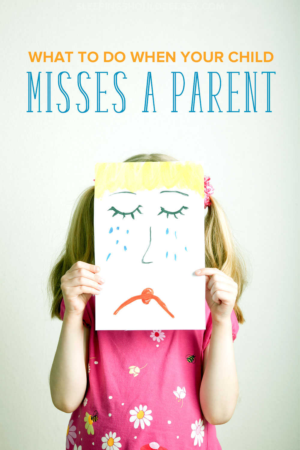 Heading out of town? Working long hours? Your kids will likely miss having you around. Learn how to how to comfort a child who misses a parent during a temporary break. Click here to read what to do when your child misses a parent.