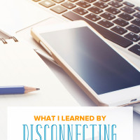 We're so often attached to our tech gadgets. Here's a project I tried when I unplugged from technology. See what I learned by disconnecting from technology.