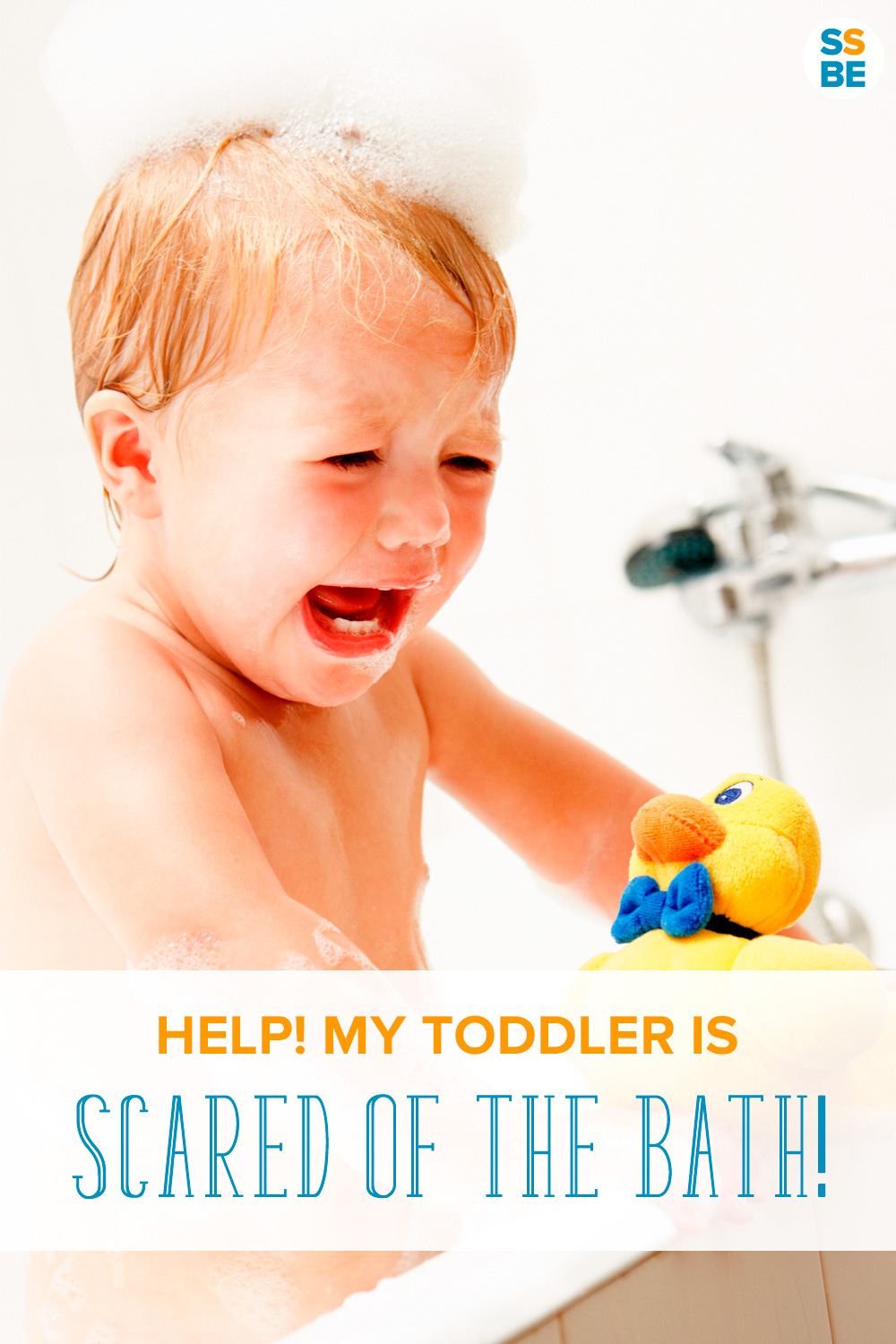 Is your toddler scared of the bath? If your child has a fear of bath time, check out tips on how to help make bath time easy and fun.
