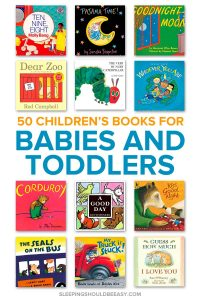 A collection of baby and toddler books