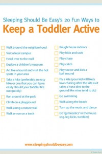 20 fun ways to keep a toddler active