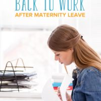 How to Transition Back to Work after Maternity Leave