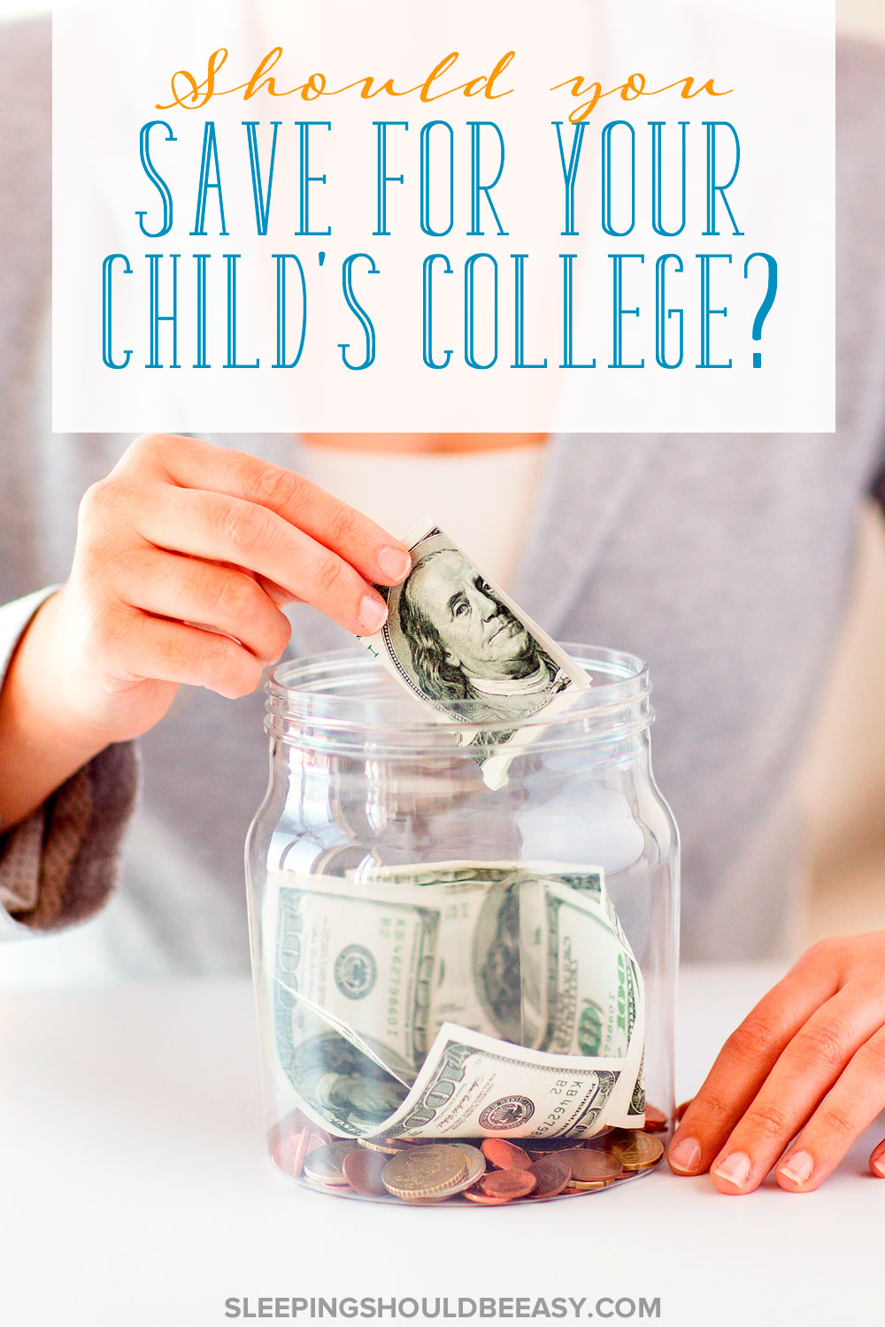 College costs a lot of money, but should you save for your child's college? Here are reasons why I do, then tell me whether you save for college or not.