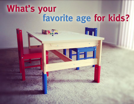 What is your favorite age for kids?