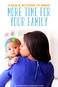 Wondering how to spend more time with family? Learn 9 quick actions that allow me to spend time with my family. Perfect for busy moms!