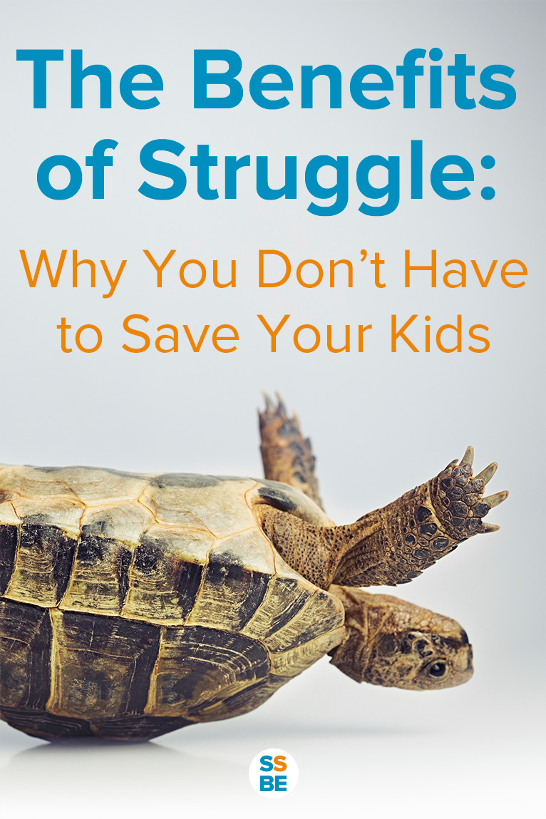 As parents, we want to make sure our kids are okay, but you don't always have to save your kids — let them experience the benefits of struggle.