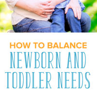 On Balancing Newborn and Toddler Needs