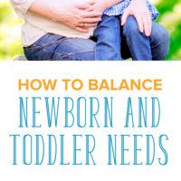 On Balancing Newborn and Toddler Needs