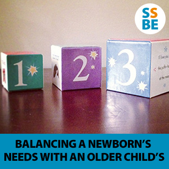 The anxieties of balancing newborn needs with an older child