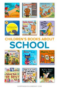 A collection of children's books about going to school