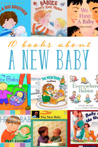 A collection of children's books about a new baby