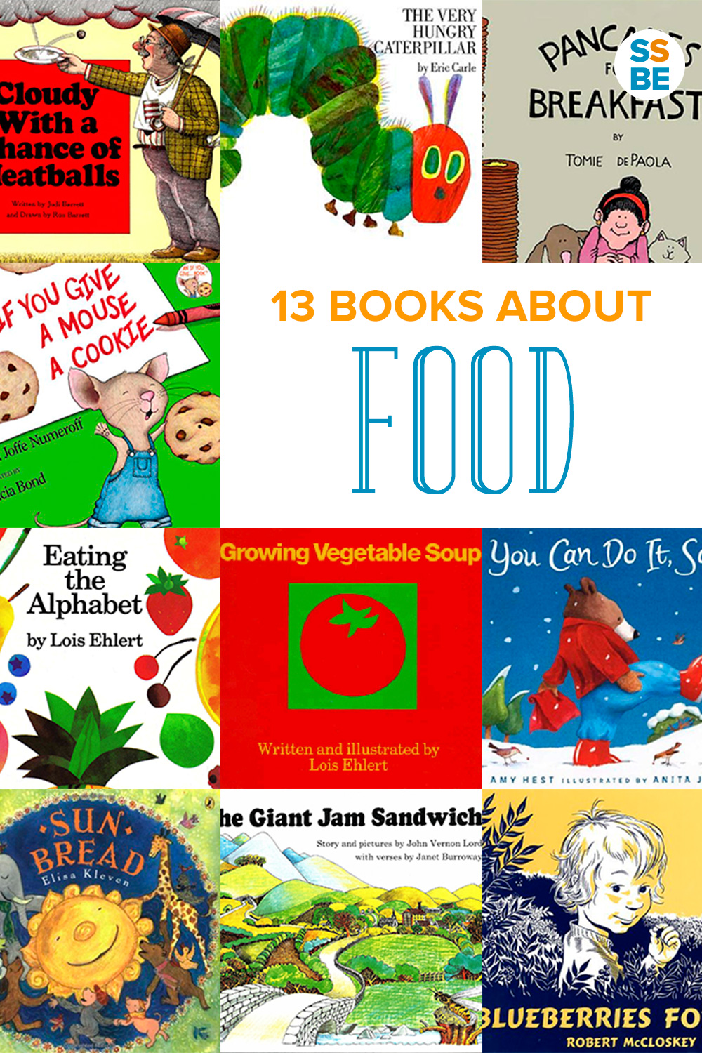 It's fun to learn about food with kids. Read stories about baking, cooking, eating and giving food. Here are 13 children's books about food to read aloud.