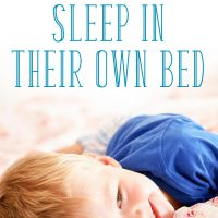 Little boy sleeping in his own bed: getting toddler to sleep in own bed