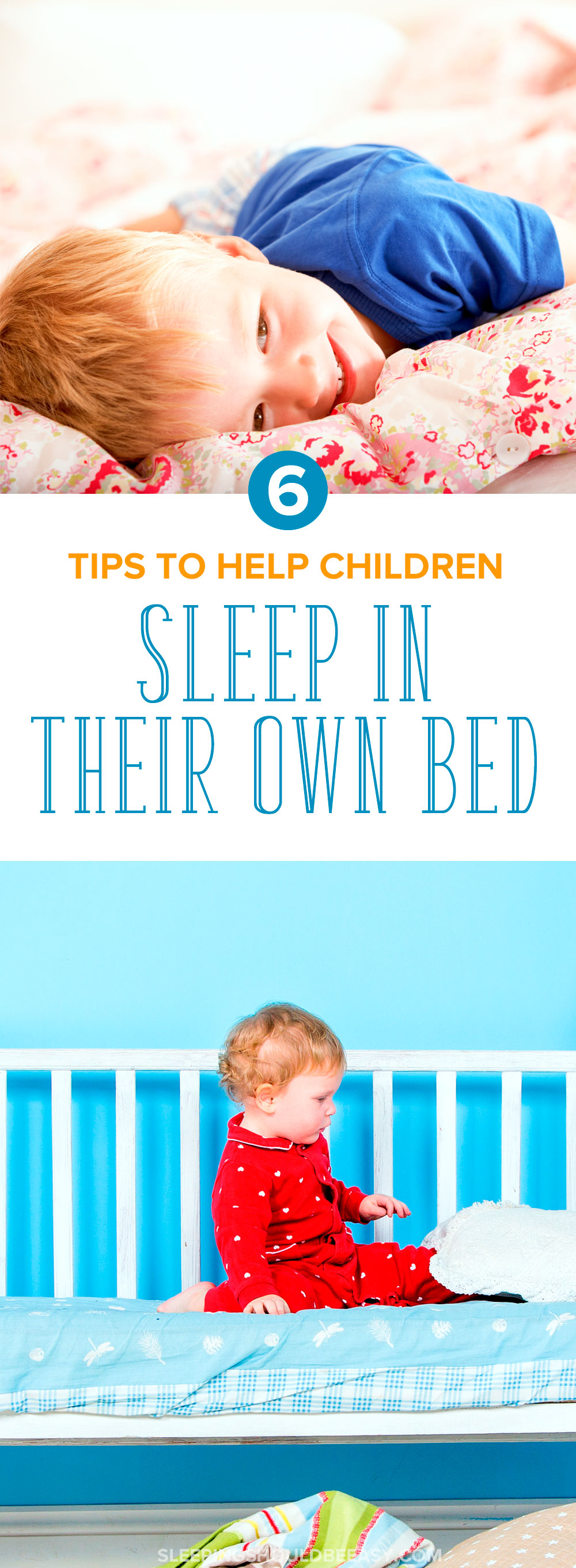 Need tips on getting your toddler to sleep in their own bed? Check out these 6 tips to get your child to sleep—and stay—in his own bed the whole night.