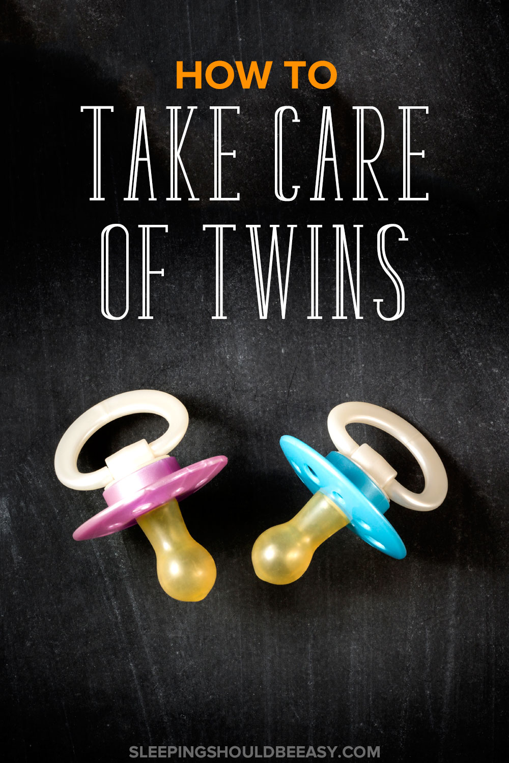 How to take care of twins: Pink and blue twin pacifiers