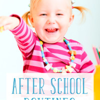 Creating an After School Routine for Preschoolers