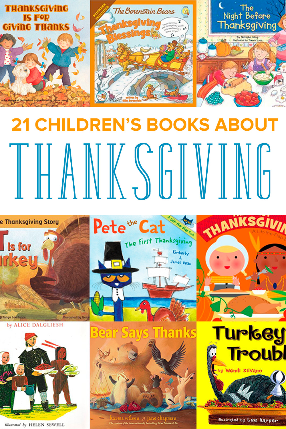 Gobble up these Thanksgiving kids books, perfect for the young reader. From turkeys to fall, your kids will enjoy reading about Thanksgiving.