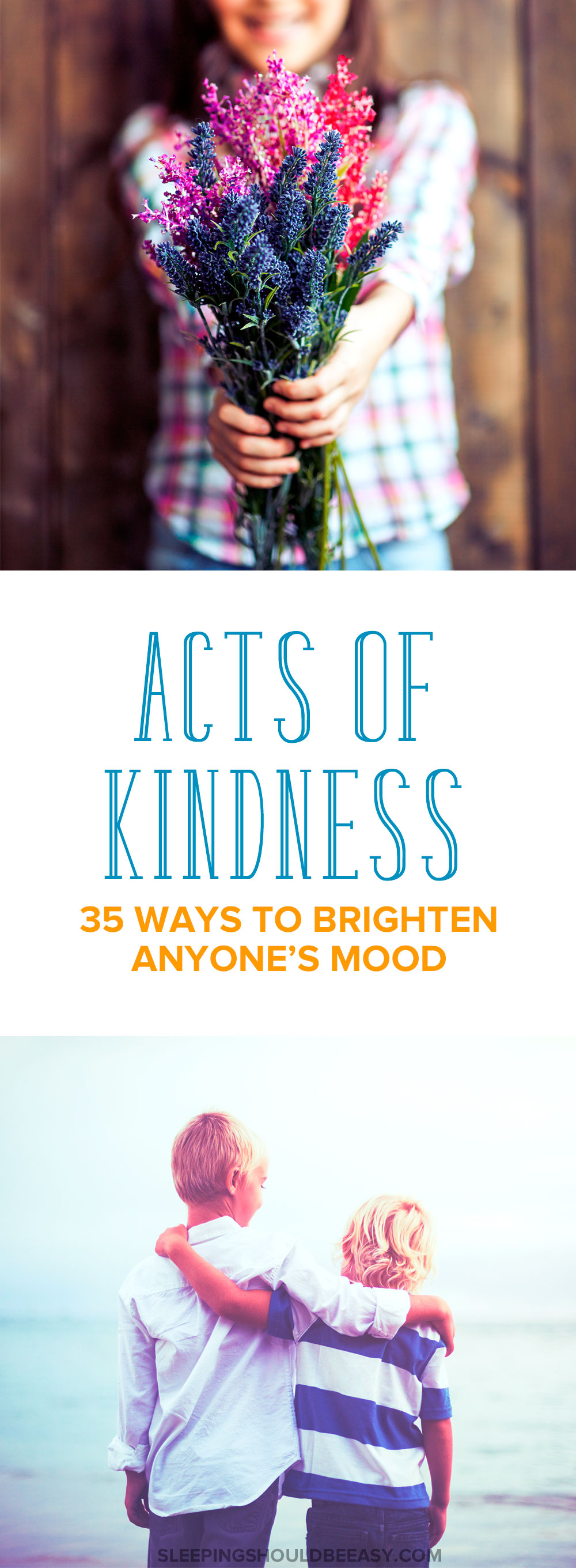 Start your day right and practice random acts of kindness to brighten anyone's mood. Here are 35 unique ideas to make family, friends and strangers happy.