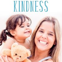 Mom and little girl smiling and holding a teddy bear: Random acts of kindness