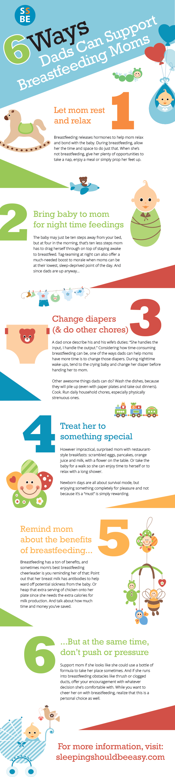 How can dads help with breastfeeding? Start with these 6 ways dads can support breastfeeding moms and encourage her to breastfeed the baby.