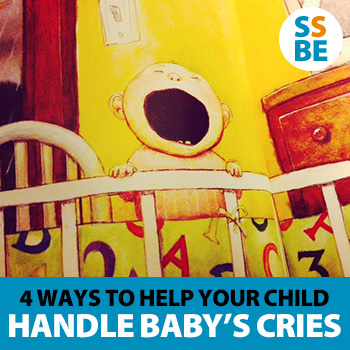 4 Ways to Help Your Older Child Handle the Baby's Cries