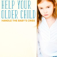 It's hard for parents to deal with a baby crying. Now your older child has to as well. Here's how to help your older child handle a new baby crying.