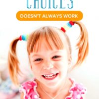Why Offering Choices to Preschoolers Doesn't Always Work