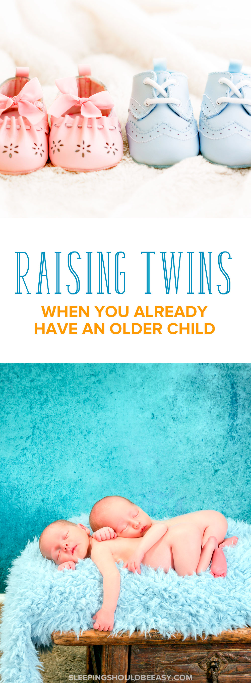 A resource for parenting twins after a singleton. Taking care of all three (or more!) can be a challenge for even the most organized mom. Get practical tips on raising twins when you already have an older child. Even includes a FREE email course, Bringing Home Twins, to help you feel better prepared to welcome your twins home! A must-read for parents of twins! #twins #twinlife