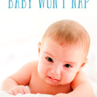 How to Stay Calm when Your Baby Won't Nap