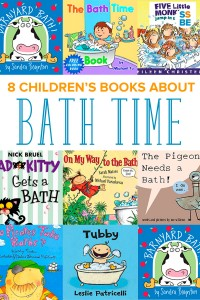 A collection of bath time books