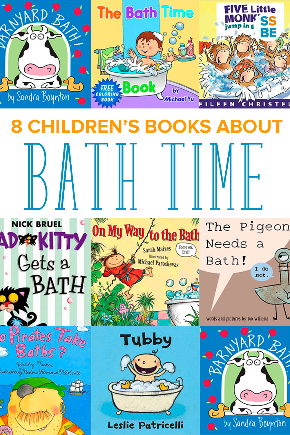 These 8 children's bath time books for babies and toddlers are perfect for introducing your child to the tub or calming fears about taking a bath.