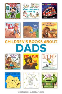 A collection of children's books about dads
