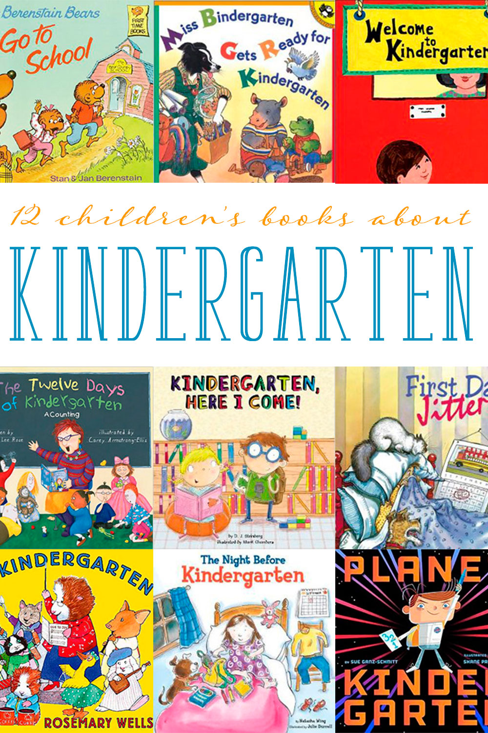 Is your child entering kindergarten? Here are 12 children's books about kindergarten to help with the transition.