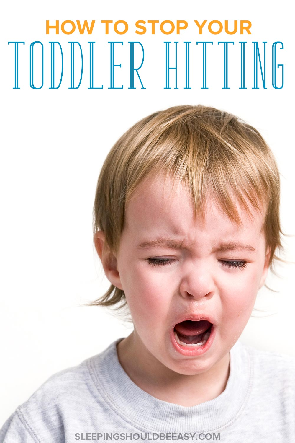 Little boy crying: How to stop toddler hitting
