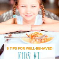 Do you struggle with your kids misbehaving at restaurants? Teach them restaurant etiquette! These 6 tips for well-behaved kids during your next family dining.