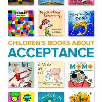 A collection of children's books about acceptance