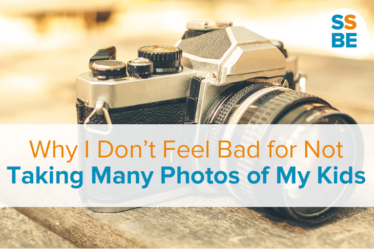 Why I Don't Feel Bad for Not Taking Many Photos of My Kids