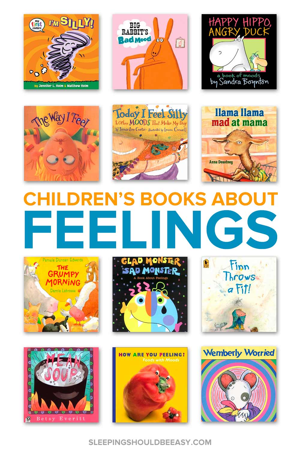 A collection of children's books about feelings
