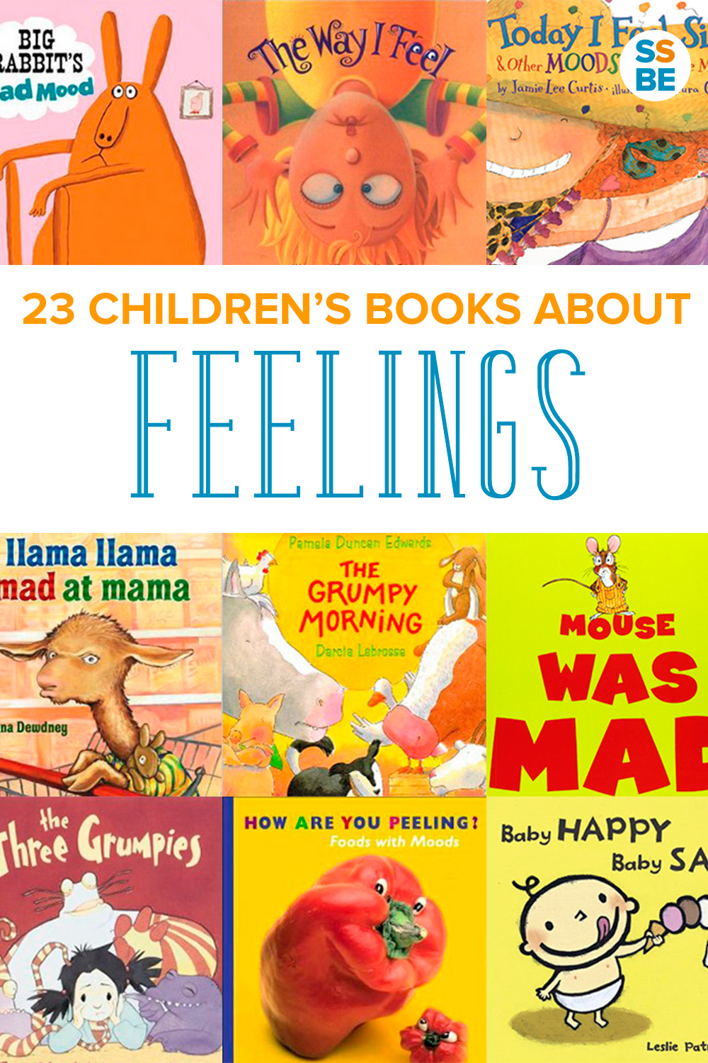 Feelings can be overwhelming for kids, especially when they don't yet know what they are. Help your child with these 23 children's books about feelings: