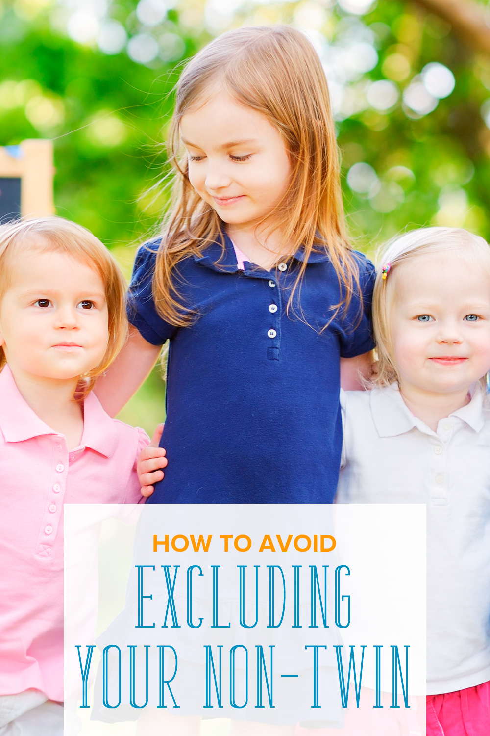 Worried that your non twin child will feel left out when all the attention is on the twins? Learn how to avoid excluding the non-twin siblings.