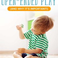 A little boy in the middle of open-ended play