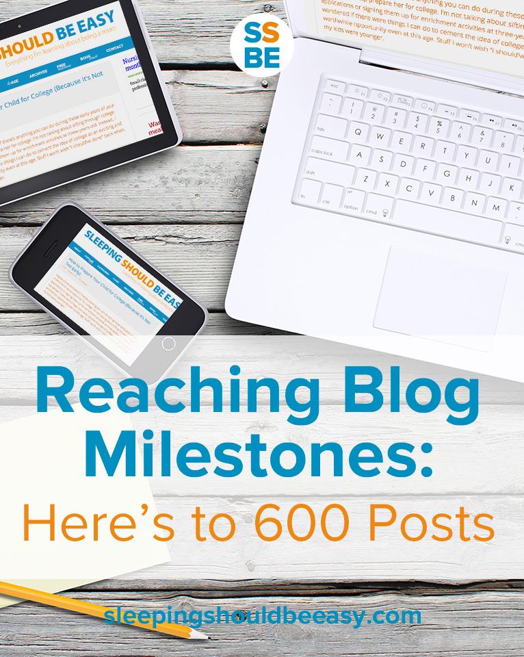 Reaching Blog Milestones: Here's to 600 Posts