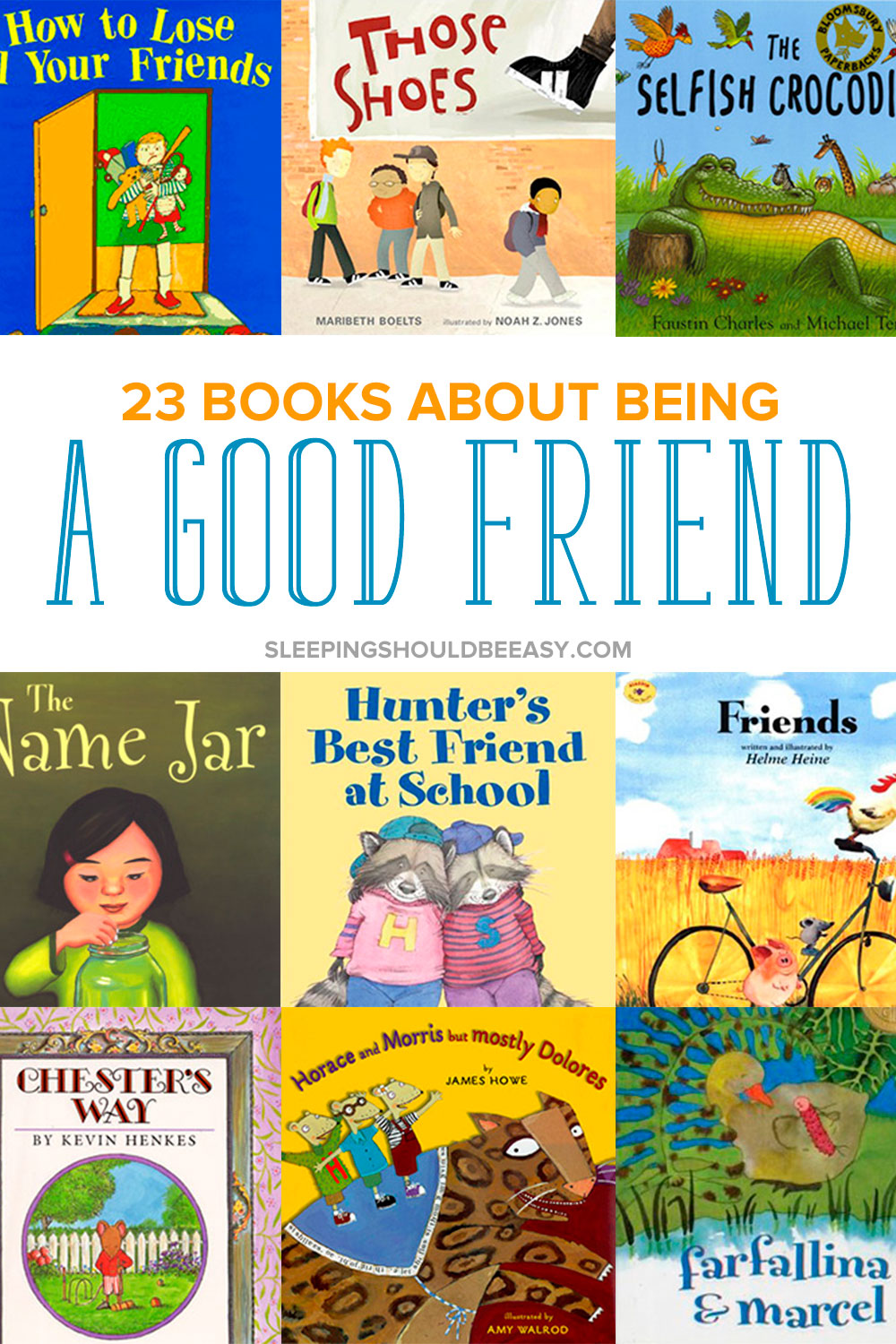 Looking for books about friends for kindergarten, preschool and toddler kids? Being a good friend to others is an important skill children need to learn. Read these 23 children's books about being a good friend to remind your kids the values of being kind to others. Even includes a FREE printable Read Aloud Book List with hundreds of favorite selections to read with your kids! #childrensbooks