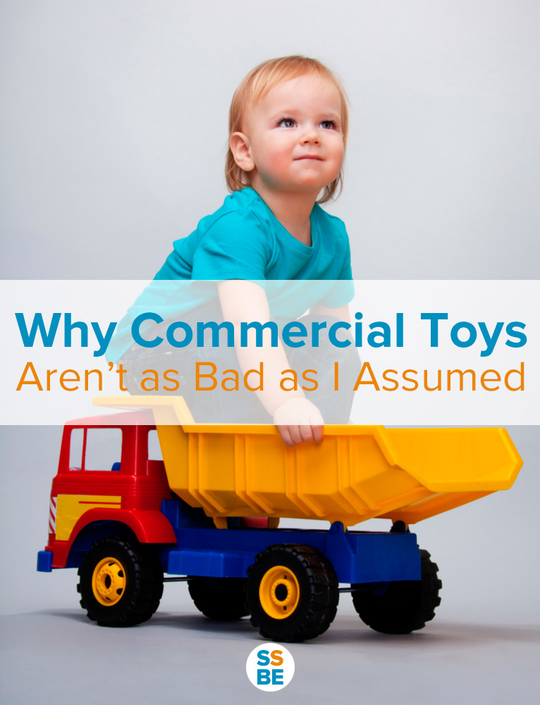 I used to avoid Mickey Mouse, Teenage Mutant Ninja Turtles and other commercial toys. Now, I realize they're not so bad, for a few very good reasons: