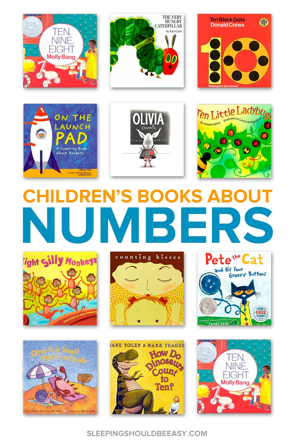 A collection of children's books about numbers