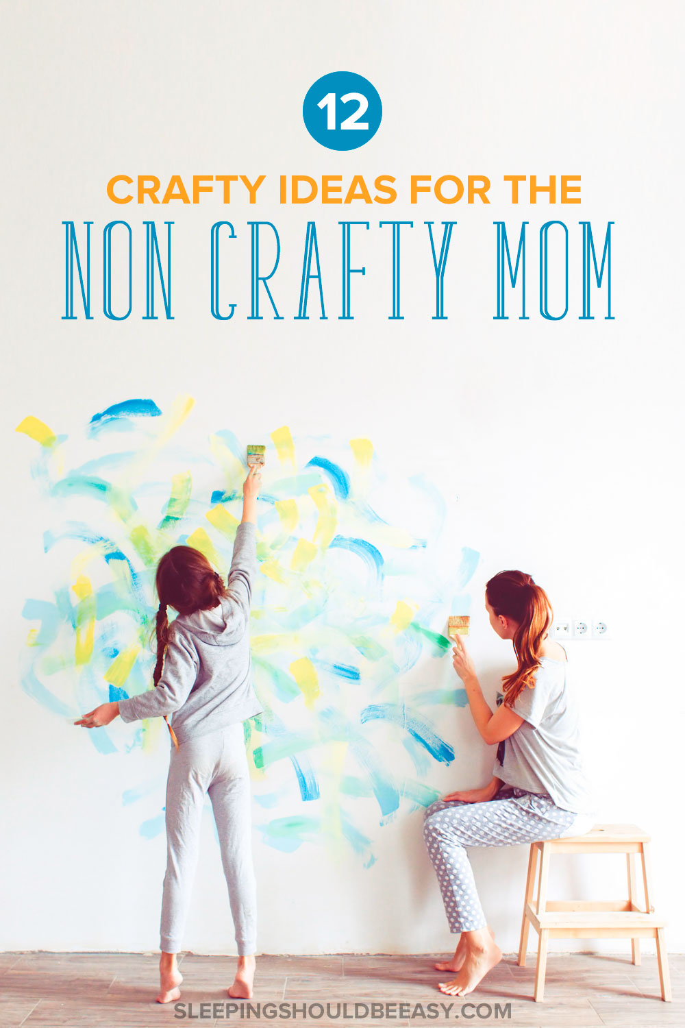 You want your kids to do fun crafts, but you want simple projects using regular items. Don't worry: here are 12 crafty ideas for the non crafty mom.